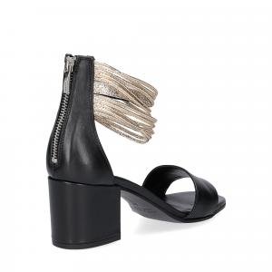 Janet & Janet sandalo nero platino-5