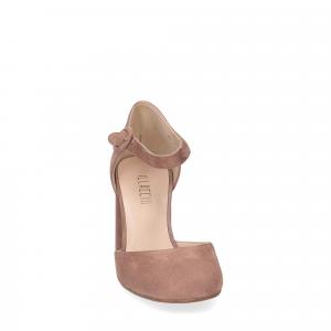 Il laccio sandaliera camoscio rosa-1