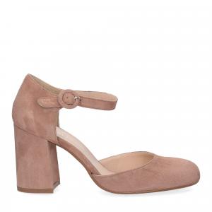 Il laccio sandaliera camoscio rosa-3
