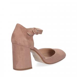 Il laccio sandaliera camoscio rosa-5