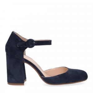 Il laccio sandaliera camoscio blu-2