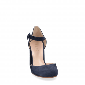 Il laccio sandaliera camoscio blu-3