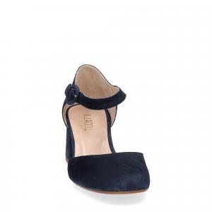 Sandaliera in camoscio blu con cinturino-2