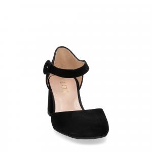 Il laccio sandaliera camoscio nero-1