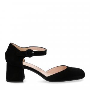 Il laccio sandaliera camoscio nero-2