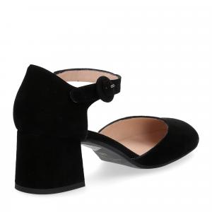 Il laccio sandaliera camoscio nero-4