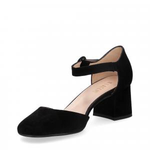 Il laccio sandaliera camoscio nero-5