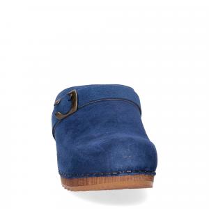 Sanita Zoccolo in camoscio blu jeans-2