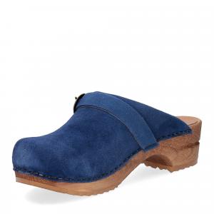 Sanita Zoccolo in camoscio blu jeans-4