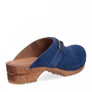 Sanita Zoccolo in camoscio blu jeans-5