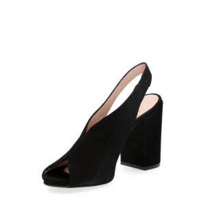 Il laccio sandalo camoscio nero-2