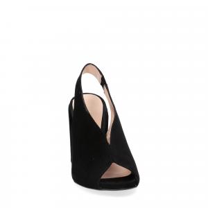Il laccio sandalo camoscio nero-4