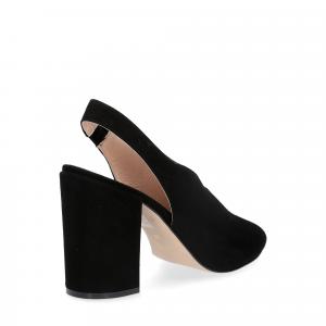 Il laccio sandalo camoscio nero-5