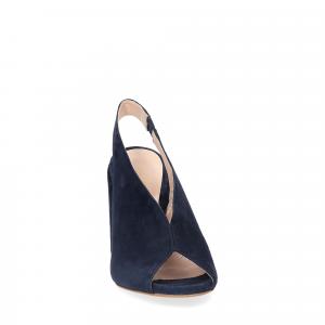 Il laccio sandalo camoscio blu-2