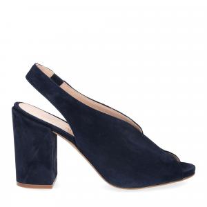 Il laccio sandalo camoscio blu-3