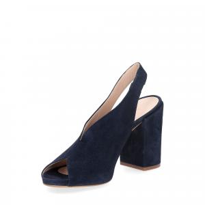 Il laccio sandalo camoscio blu-4