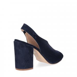 Il laccio sandalo camoscio blu-5