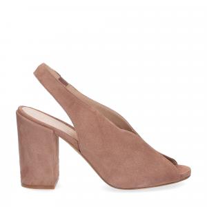 Il laccio sandalo camoscio rosa-3