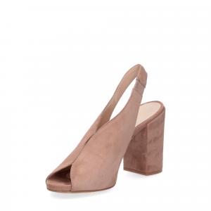 Il laccio sandalo camoscio rosa-4