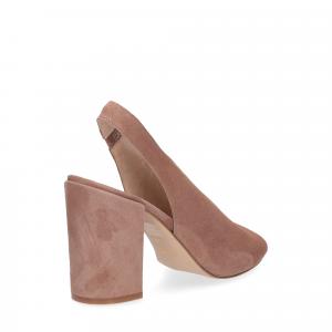 Il laccio sandalo camoscio rosa-5