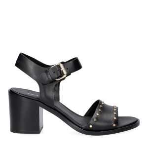 Janet & janet sandalo nero con borchie-2