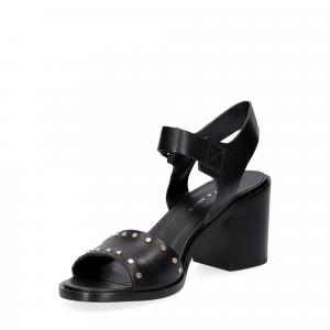 Janet & janet sandalo nero con borchie-4