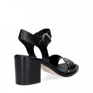 Janet & janet sandalo nero con borchie-5