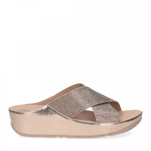 Fitflop tm slide rose gold crystall-1