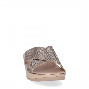 Fitflop tm slide rose gold crystall-2