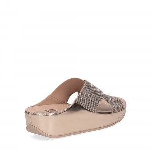 Fitflop tm slide rose gold crystall-4