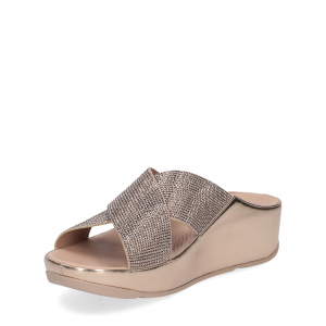 Fitflop tm slide rose gold crystall-5