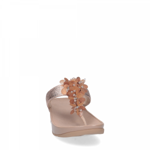 fitflop boogaloo toe post rose gold-4