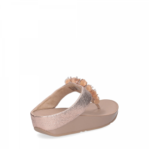 fitflop boogaloo toe post rose gold-5