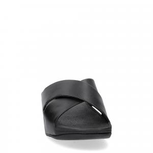 Fitflop LULU CROSS SLIDE SANDALS leather black-1