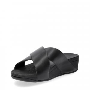 Fitflop LULU CROSS SLIDE SANDALS leather black-4