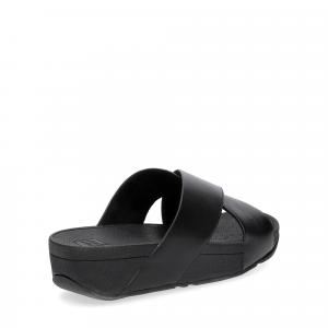 Fitflop LULU CROSS SLIDE SANDALS leather black-5
