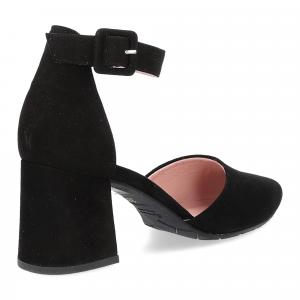 Il Laccio Sandaliera in camoscio nero-5