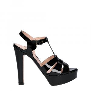 Vera Miller sandalo vernice nera-1