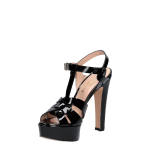 Vera Miller sandalo vernice nera-4