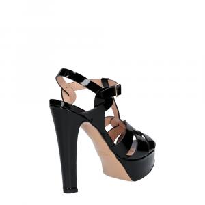 Vera Miller sandalo vernice nera-5