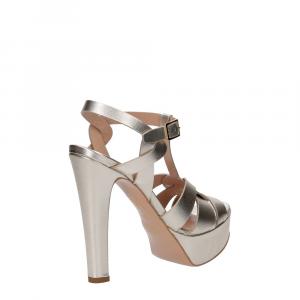 Vera Miller sandalo pelle laminata platino-4