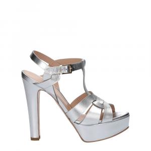Vera Miller sandalo pelle laminata argento-2