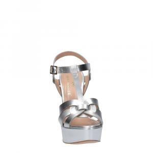 Vera Miller sandalo pelle laminata argento-3