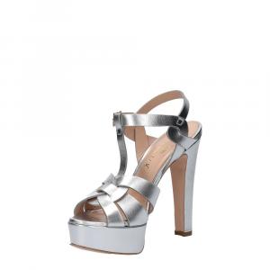 Vera Miller sandalo pelle laminata argento-4