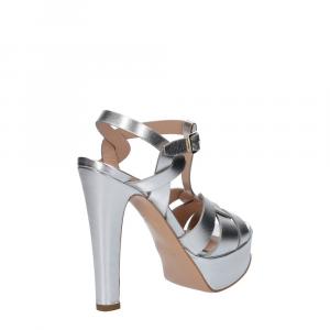 Vera Miller sandalo pelle laminata argento-5