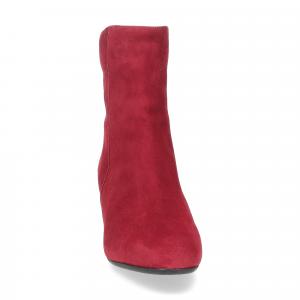 Anna de Bray tronchetto Quengel camoscio rosso-2