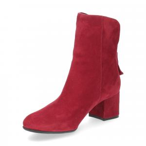 Anna de Bray tronchetto Quengel camoscio rosso-4