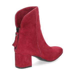 Anna de Bray tronchetto Quengel camoscio rosso-5