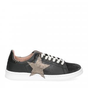 Nira Rubens daiquiri DAST160 sneaker nera stella boa black glitter-3