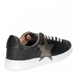 Nira Rubens daiquiri DAST160 sneaker nera stella boa black glitter-5